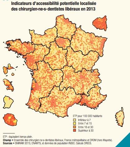 Mais En 2013 98 Des Francais Vivaient Dans Une Commune Situee A Moins De 15 Minutes Du Cabinet Dentaire Le Plus Proche Precise La DREES Un