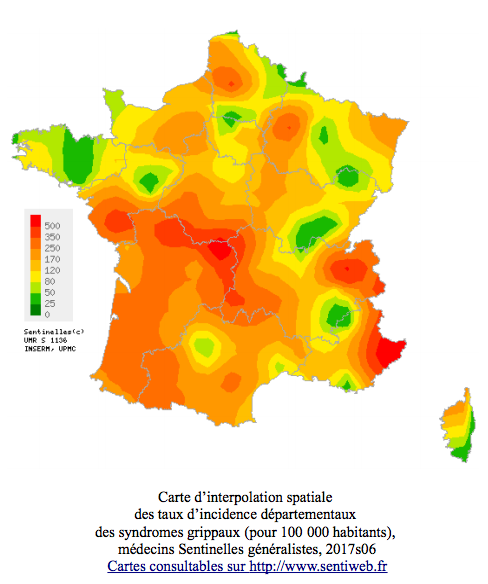 Auvergne-Rhône-Alpes toujours au-dessus du seuil épidémique — Grippe
