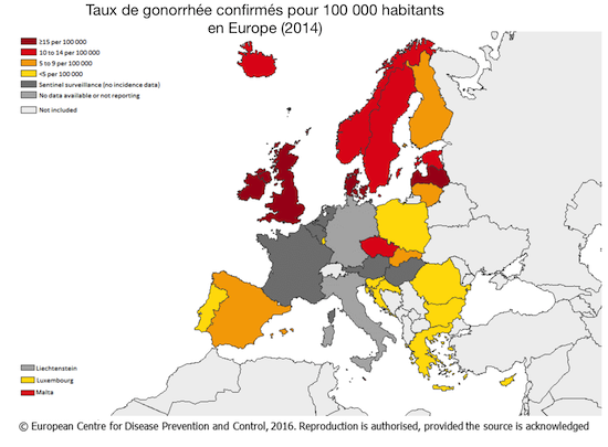 Gonorrhée : les cas ont doublé en Europe