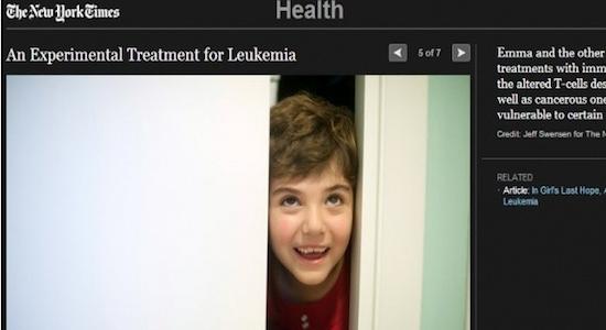 Une petite fille atteinte de leucémie sauvée grâce au virus du sida