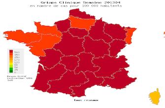 La grippe s\'intensifie sur toute la France