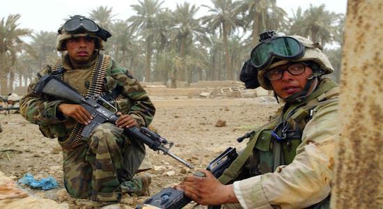 Les soldats américains soignent leurs artères