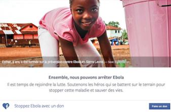 Ebola : Facebook incite à faire des dons