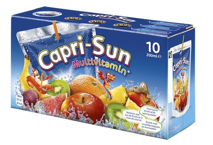 Capri-Sun : très peu de fruits, beaucoup trop de sucre