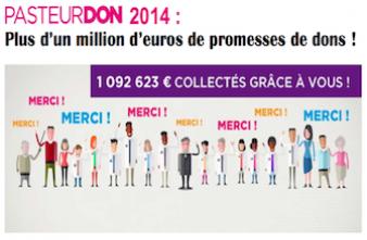 Pasteurdon : plus d'un million d'euros récolté en 4 jours