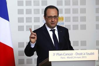 Cancer : François Hollande concrétise le droit à l'oubli