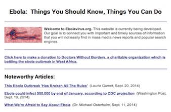 Ebola.com : le nom de domaine à vendre pour 150 000$