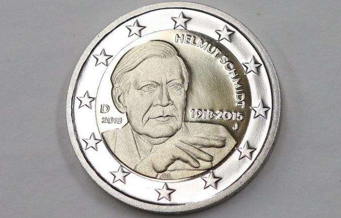 Pièce de monnaie : Helmut Schmidt privé de sa cigarette