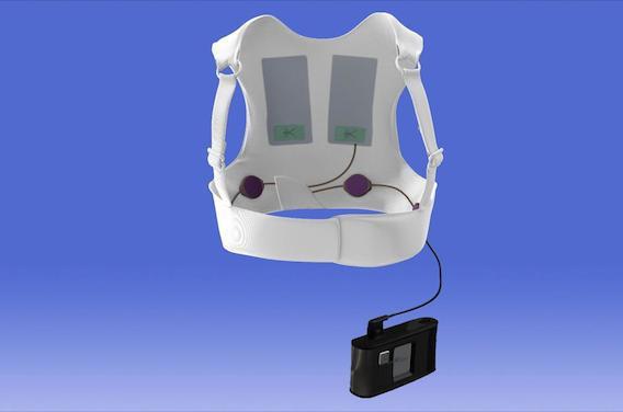 Infarctus : une veste-défibrillateur écoute le cœur en permanence
