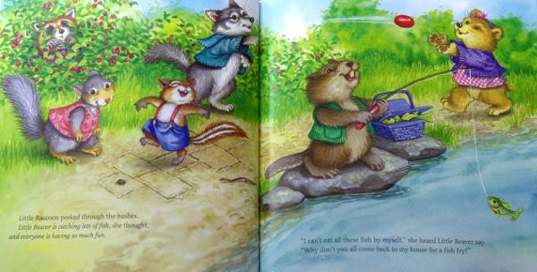 Little Racoons learns to share, de Mary Packard