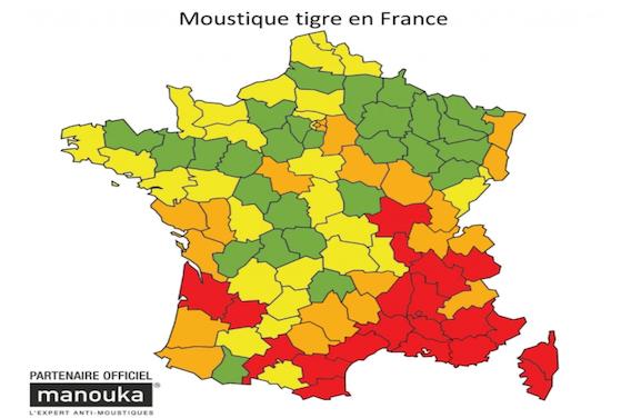 Moustique tigre : vingt départements dans le rouge