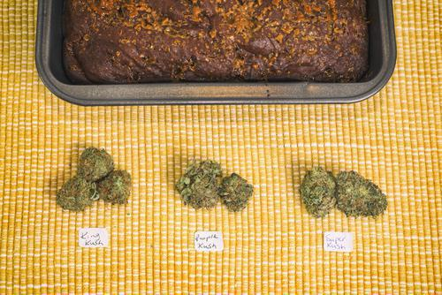 Gâteau au cannabis : \