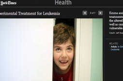 Une petite fille atteinte de leucémie...