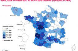 Rougeole : la majorité des 1605 personnes contaminées depuis novembre n'étaient pas vaccinées