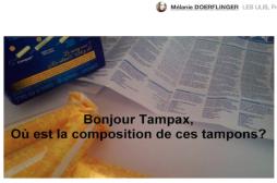 Tampax : la pétition d'une jeune Française rassemble des milliers de signatures