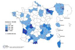 Rougeole : plus de la moitié des départements sont concernés, surtout dans le sud
