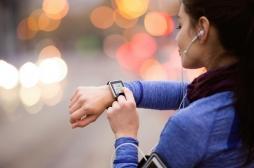 Une montre connectée pour surveiller le corps pendant l'effort