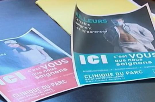 Saint-Etienne : la pub sexy d'une clinique fait scandale