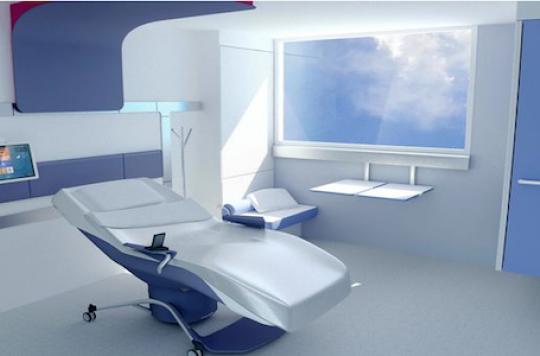 Une chambre qui soigne le patient for Fauteuil chambre hopital