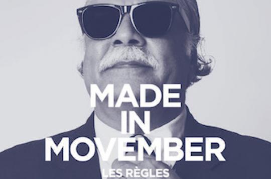 Movember : une moustache contre les cancers masculins