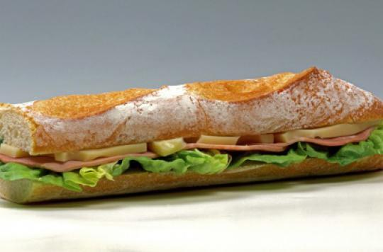 Sandwiches : riches en calories et en sel