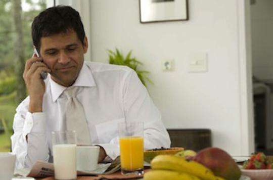 Le petit déjeuner bon pour le coeur des hommes