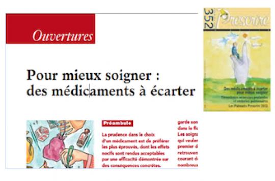 Pr Jean-François Bergmann : « on s\'agite sur des médicaments mineurs »
