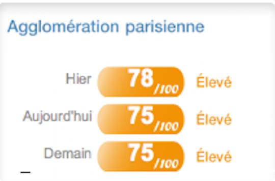 La pollution fait perdre  8 à 12 mois d\'espérance de vie aux parisiens