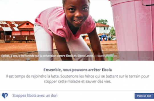 Ebola : comment faire un don sur Facebook en quelques clics