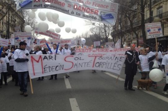 Manifestation du 15 mars : les médecins \