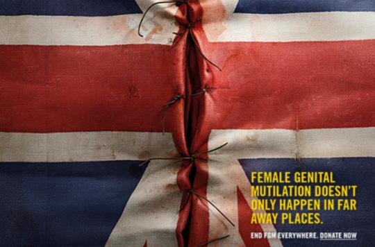 Excision : une campagne choc pour lutter contre les mutilations