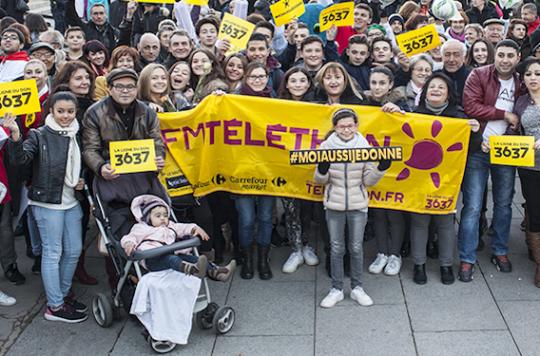 Téléthon 2015 : une collecte exceptionnelle de 94 millions d'euros