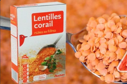 Lentilles corail d'Auchan : une ONG demande leur retrait au préfet