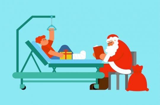 Les patients hospitalisés en période de fêtes sont moins bien suivis que le reste de l'année