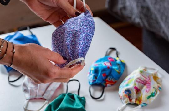 Covid-19: les masques en tissu sont aussi efficaces que les masques chirurgicaux