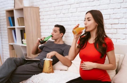Boire de l'alcool est également déconseillé aux futurs pères