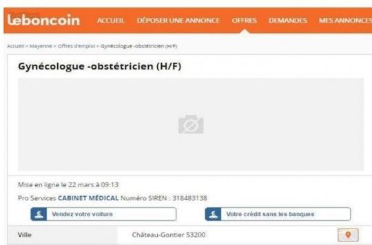 Mayenne : gynécologue vend patientèle pour 1 euro