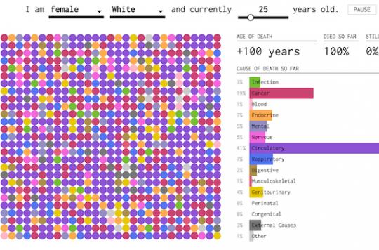 Mortalité : un calculateur simule les causes selon votre âge