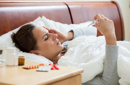 L'épidémie sur la pente descendante — Grippe