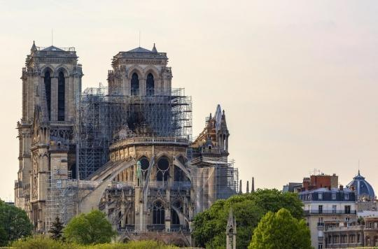 Pollution au plomb à Notre-Dame : des associations manifestent pour le confinement du chantier