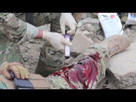 Guerre : une seringue anti-hémorragies validée aux USA