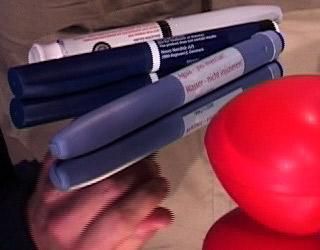 Injection d'une insuline avec un stylo-injecteur
