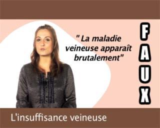 L'insuffisance veineuse : les symptômes
